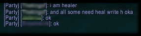 I am healer and all some need heal write h oka