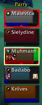 Another screenshot, this time the dark red of the DK's health bar and the black background are tricky to distinguish