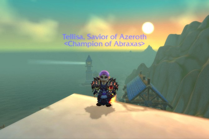 Tellisa, Savior of Azeroth